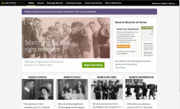 Screenshot of Ancestry Library Edition homepage.