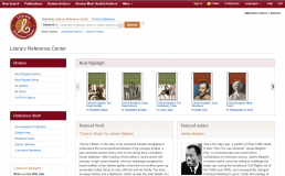 Screenshot of Literary Reference Center homepage.