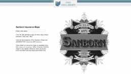 Screenshot of Sanborn homepage.